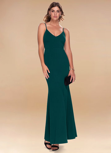 Theodora Forest Green Maxi Dress