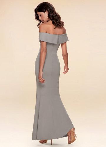 back_My Valentine {Color} Stretch Crepe Maxi Dress