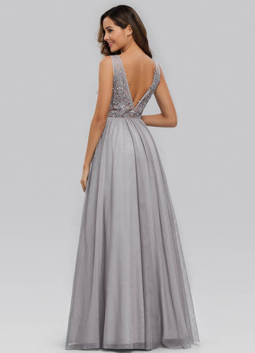back_EVER-PRETTY Sleeveless A-Line Maternity Tulle Maxi Dress
