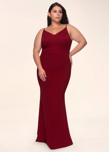 front_Blush Mark Plus Size Day to Night Stretch Crepe Maxi Dress