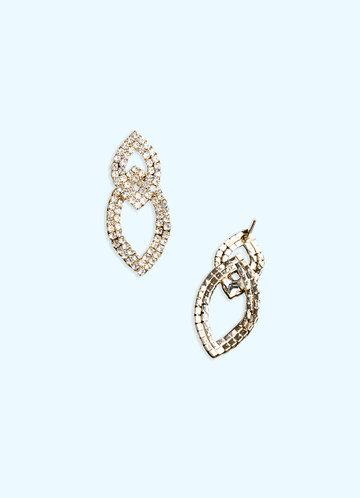 back_Double Teardrop Rhinstone Earrings
