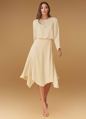 front_Blush Mark Power of Love {Color} Midi Dress