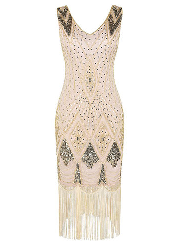 front_Blush Mark 1920s Gatsby Cocktail Sequin Art Deco Flapper Dress