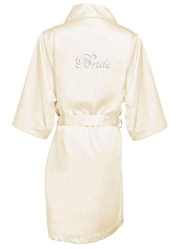 Azazie Rhinestone Bride Satin Robe