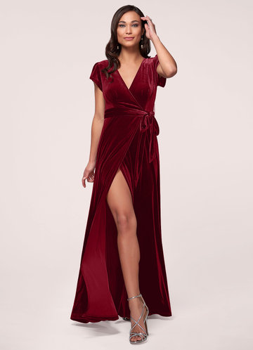 Dreaming Of You Burgundy Velvet Maxi Dress