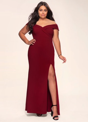 front_Blush Mark Plus Size My Valentine Stretch Crepe Maxi Dress