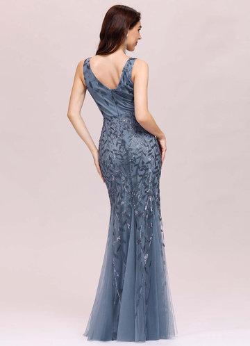 back_EVER-PRETTY Godet Fishtail Hem Sequin Mesh Dress