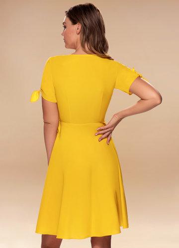 back_Coffee Break {Color} Wrap Dress