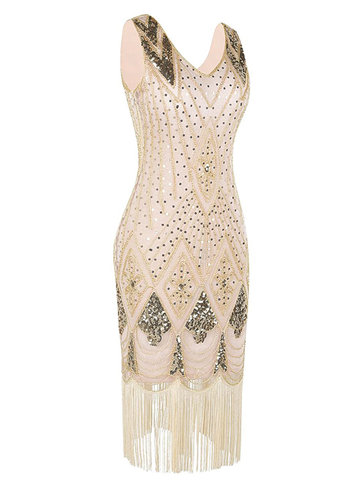 back_Blush Mark 1920s Gatsby Cocktail Sequin Art Deco Flapper Dress