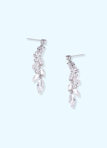 back_Laurel Leaf Cubic Zirconia Drop Earrings