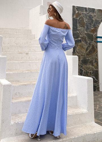 back_Missord Off Shoulder Gingham Print Dress