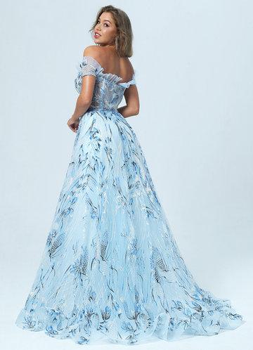 back_AZ Skies of Blue Prom Dress