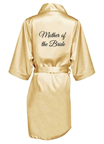 Azazie Embroidered Mother Of The Bride Satin Robe