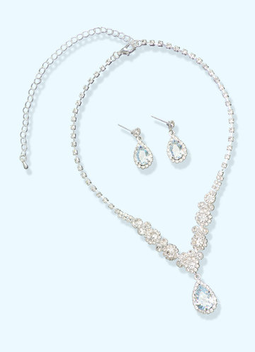 front_Rhinesstone Statment Jewelry Set