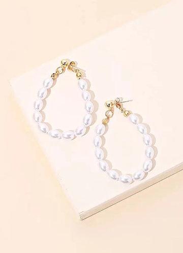 back_Baroque Pearl Hoop Earrings