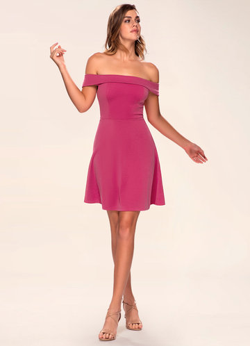 front_Blush Mark Perfect Match {Color} Skater Dress