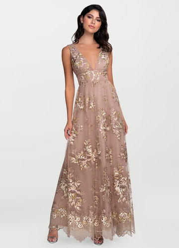 Blush Mark Romantic Adventure Dusty Rose Embroidery Maxi Dress