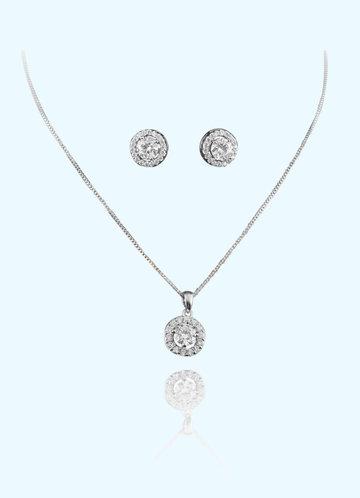 front_Classic Pendant Jewelry Set