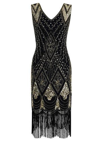 front_Blush Mark 1920s Gatsby Cocktail Sequin Art Deco Flapper Dress