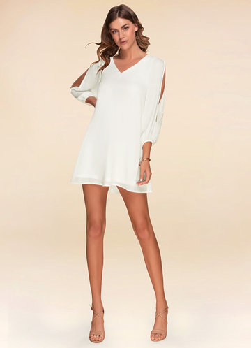 Chateau Marmont Ivory Long Sleeve Dress
