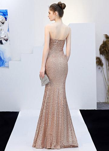 back_Kalinnu High Split Maxi Dress With Belt