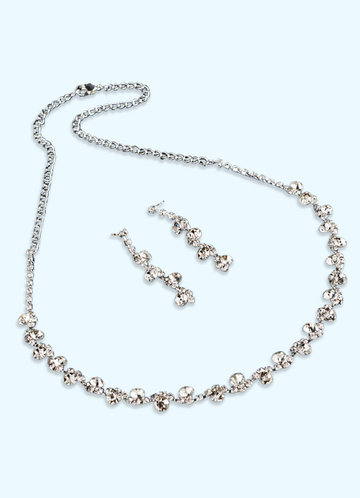 back_Elegant and Exquisite Crystal Jewelry Set