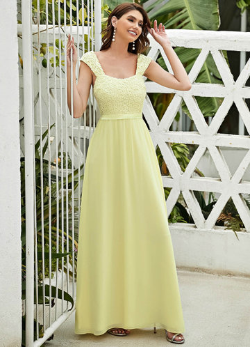 front_EVER-PRETTY Lace Yoke Shirred Back Maxi Dress