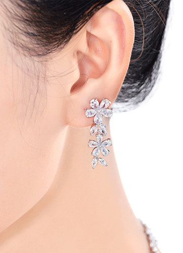 front_Enchanted Floral Drop Earrings