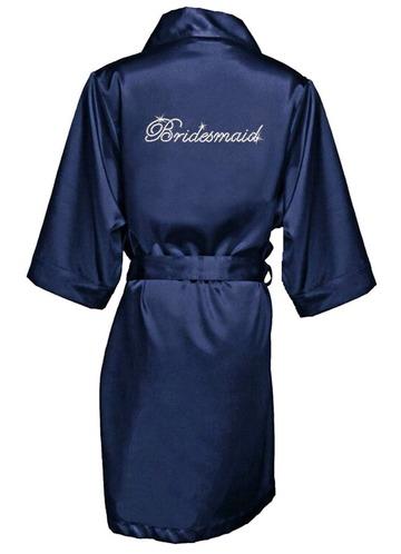 Azazie Rhinestone Bridesmaid Satin Robe