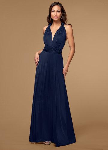 Venice Convertible Navy Blue Maxi Dress