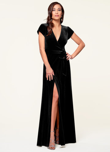 Dreaming Of You Black Velvet Maxi Dress