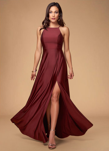 Blush Mark City Of Light cabernet Maxi Dress