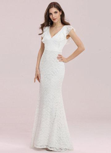 front_Ever Pretty Elegant Maxi Fishtail Lace Dress
