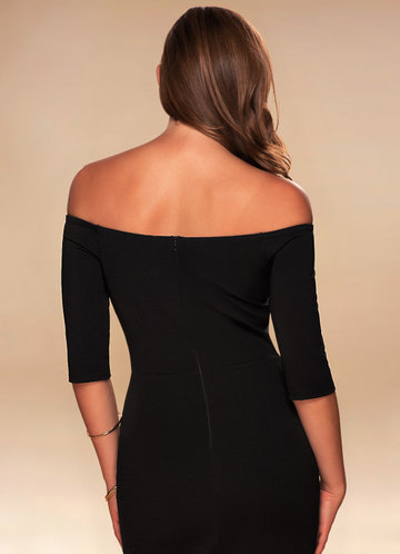 back_Blush Mark Timeless {Color} Off-The-Shoulder Midi Dress
