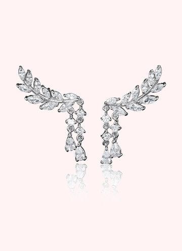 front_Laurel Leaf Drop Earrings