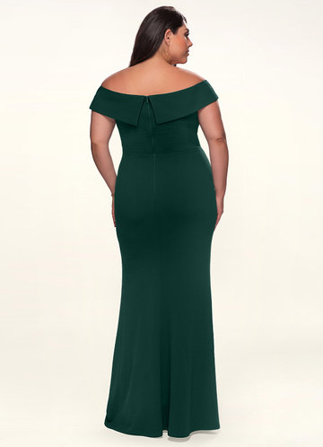 back_Blush Mark Plus Size My Valentine  Stretch Crepe Maxi Dress