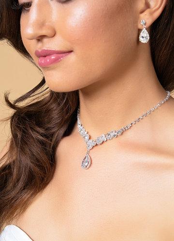 back_Rhinestone Statement Jewelry Set