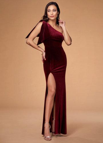 First Class Burgundy Velvet Maxi Dress