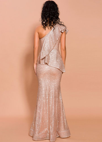 back_Missord One Shoulder Exaggerated Ruffle Sequin Prom Dress