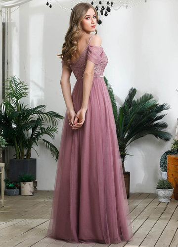 back_EVER-PRETTY Cold Shoulder Contrast Sequin Mesh Dress