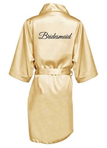 Azazie Embroidered Bridesmaid Satin Robe