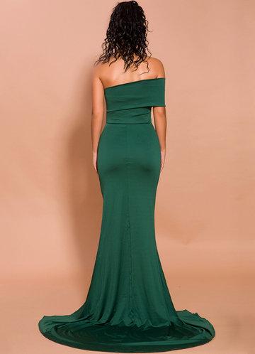 back_Missord Strapless High Split Maxi Dress