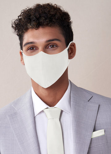 front_Azazie Men's Non-Medical Matte Satin Reusable Face Mask With Adjustable Loop