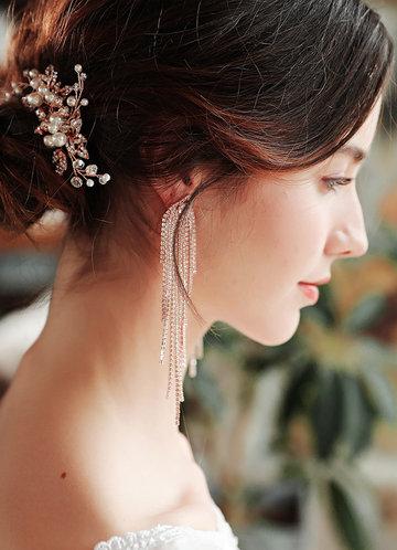 back_Light as a Feather Fringe Earrings