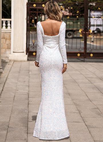 back_Missord Scoop Neck Split Thigh Sequin Prom Dress