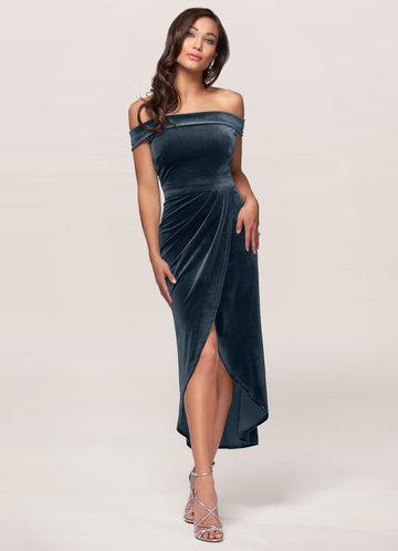 front_Sweet Desire {Color} Velvet Midi Dress