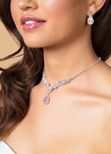 front_Rhinestone Statement Jewelry Set
