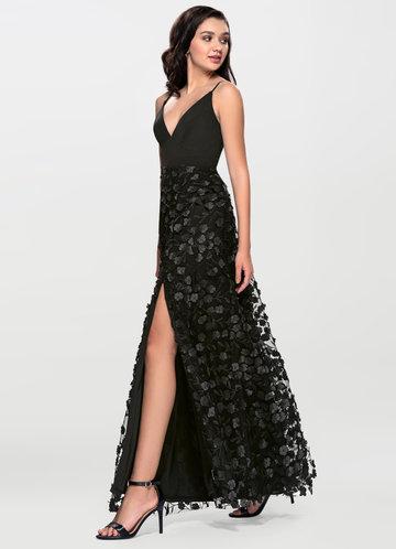 Sweet Pea Black Maxi Dress