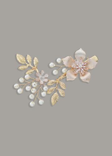 front_Star Flower Hair clip
