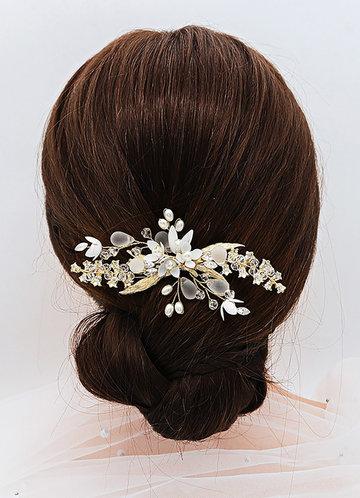 back_Gilded Floral Comb